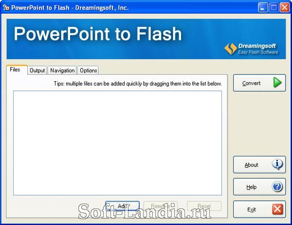 Dreamingsoft Powerpoint to Flash 2