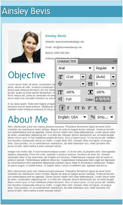 compiling a professional resume