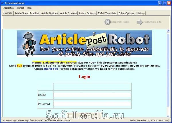 Article post robot