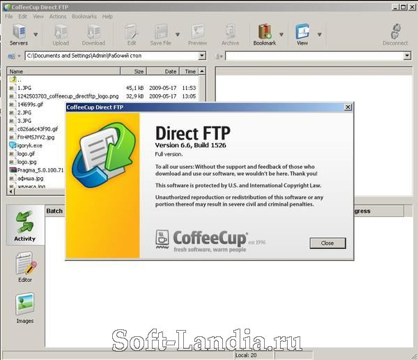 CoffeeCup Direct FTP 6