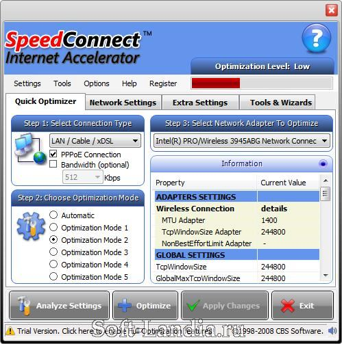 SpeedConnect Internet Accelerator 8.
