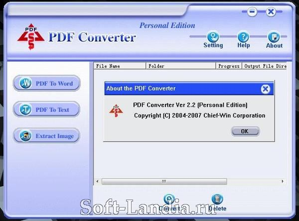 Chief-Win PDF Converter