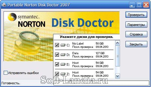 Norton Disk Doctor 2007 (portable)