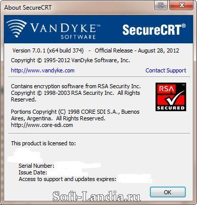 VanDyke: SecureCRT / SecureFX