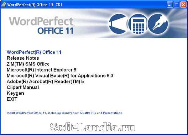 Corel WordPerfect 11