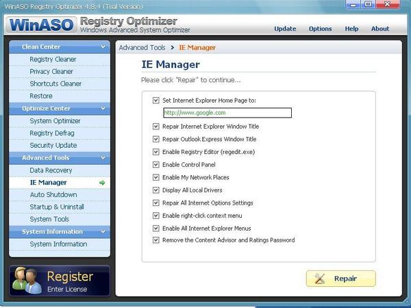 WinASO Registry Optimizer 4